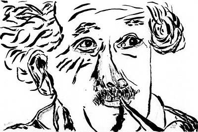 Einstein Drawing - Albert Einstein by Day Williams