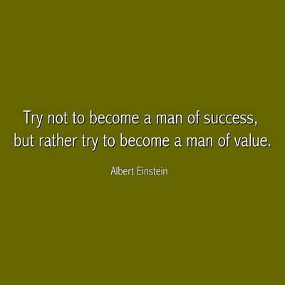 Albert Einstein Painting - Albert Einstein Famous Quote In Green by Celestial Images