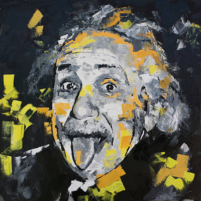 Genius Wall Art - Painting - Albert Einstein II by Richard Day
