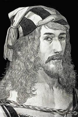 Self-portrait Drawing - Albrecht D by Vintage Design Pics