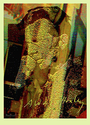 Digital Art - Aldous Huxley by Asok Mukhopadhyay