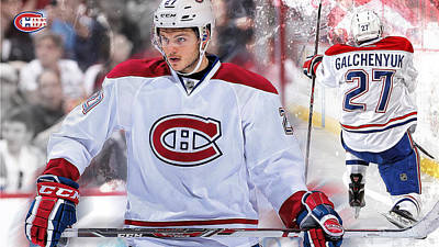 Montreal Canadiens Digital Art - Galchenyuk Poster by Nicholas Legault