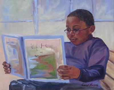 Alex Reading Art Print by Carol Berning