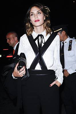 Clutch Bag Photograph - Alexa Chung Wearing A 3.1 Phillip Lim by Everett