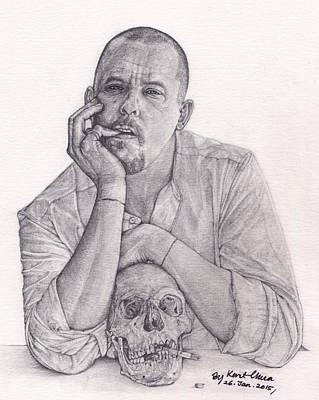 Fine Art Drawing - Alexander Mcqueen Savage Beauty by Kent Chua