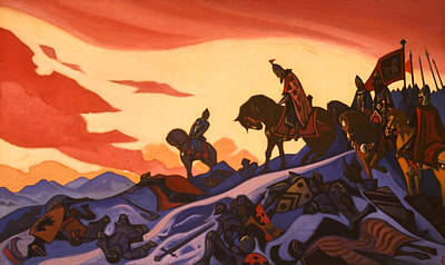 Riding Painting - Alexander Nevsky by Nicholas Roerich