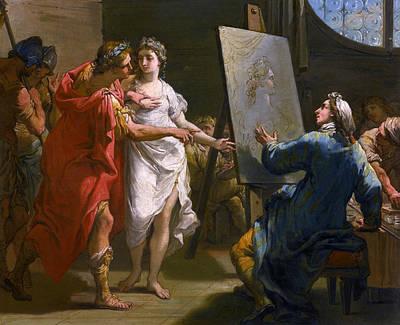 Late 18th Century Painting - Alexander Presenting Campaspe To Apelles by Gaetano Gandolfi