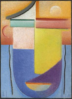 Building Painting - Alexej Von Jawlensky 1864-1941  Abstract Head, Water And Light by Alexej von Jawlensky