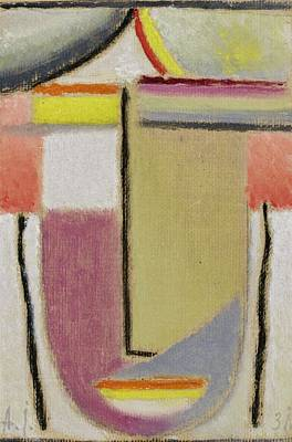 Painting - Alexej Von Jawlensky 1864 1941  Small Abstract Head by Artistic Panda
