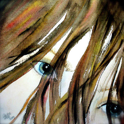 Alex's Eyes Art Print by Cheryl Dodd