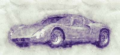 Transportation Mixed Media - Alfa Romeo 33 Stradale 1 - 1967 - Automotive Art - Car Posters by Studio Grafiikka