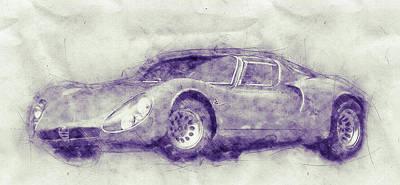 Mixed Media Royalty Free Images - Alfa Romeo 33 Stradale 1 - 1967 - Automotive Art - Car Posters Royalty-Free Image by Studio Grafiikka