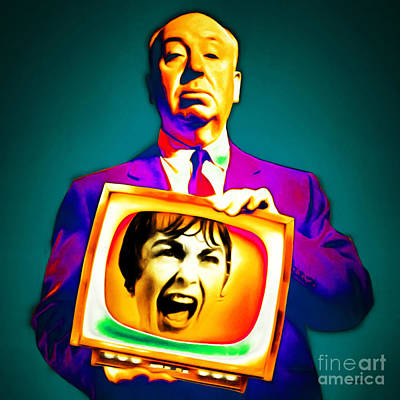 Horror Movies Photograph - Alfred Hitchcock Psycho 20151218v3 Square by Wingsdomain Art and Photography