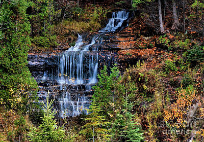 Photograph - Alger Falls In Autumn by Matthew Winn