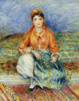 Painting - Algerian Girl by Auguste Renoir