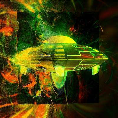 Alien Art By Raphael Terra Art Print by Raphael Terra
