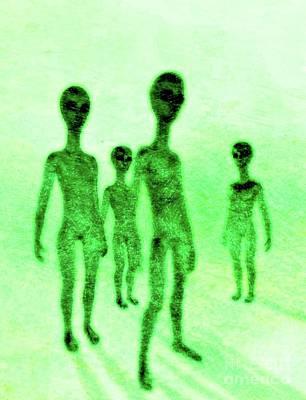Fantasy Drawings - Alien Friends by Raphael Terra