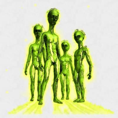Alien Gathering Art Print