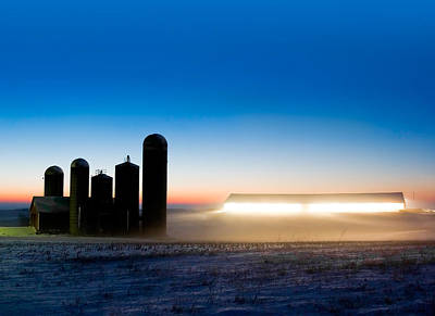Farm Building Photograph - Alien Twilight by Todd Klassy