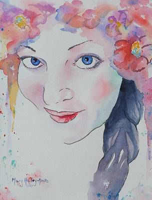 Art Print featuring the painting Alisha by Mary Haley-Rocks