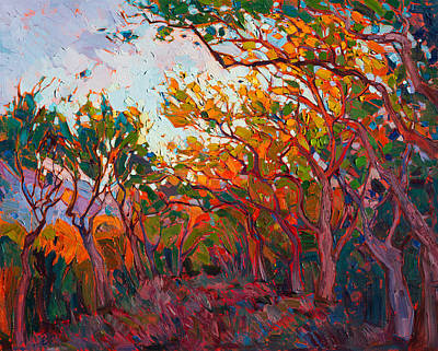 Painting - Alizarin Flame by Erin Hanson