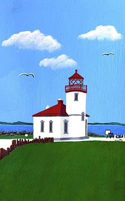 Painting - Alki Point Lighthouse by Frederic Kohli