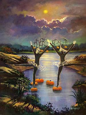 Eerie Painting - All Hallows' Eve by Randy Burns