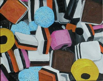 Licorice Allsorts Painting - All Sorts by Betty-Anne McDonald