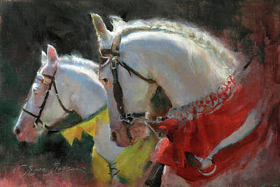 All The King's Horses Art Print by Anna Rose Bain