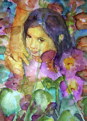 Art Print featuring the painting All The Pretty Flowers by P Maure Bausch