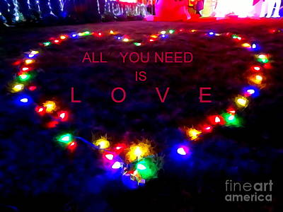 Photograph - All You Need Is Love by Ed Weidman
