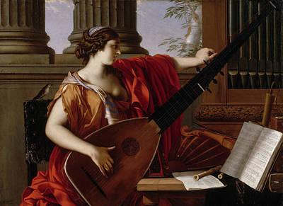 Moral Painting - Allegory Of Music by Laurent de La Hyre