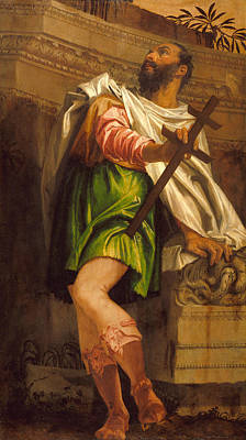 Parable Painting - Allegory Of Navigation With A Cross-staff, Averroes by Paolo Veronese