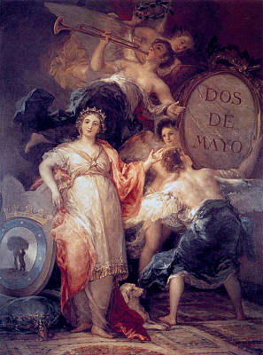 Moral Painting - Allegory Of The City Of Madrid by Francisco Goya