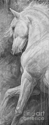 Dressage Art Painting - Allegro by Silvana Gabudean Dobre