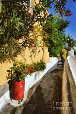 Painting - Alley In Plaka by George Atsametakis