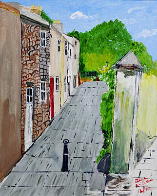 Art Print featuring the painting Alleyway by Swabby Soileau