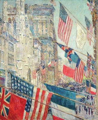 Allies Day - May 1917 Art Print by Childe Hassam