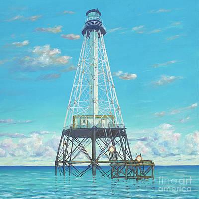 Alligator Reef Lighthouse Art Print