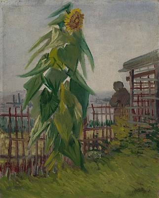 Painting - Allotment With Sunflower Paris, July 1887 Vincent Van Gogh 1853 - 1890 by Artistic Panda