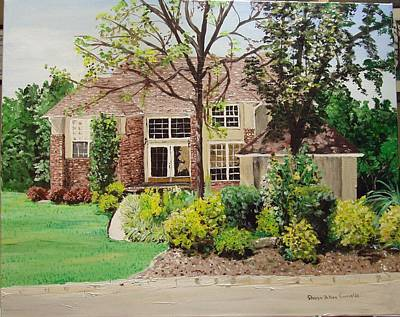 Arkansas Painting - Alma House by Sharon  De Vore