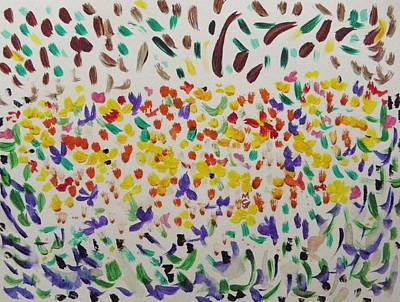 Painting - Almost Hidden Wildflowers by Mary Carol Williams