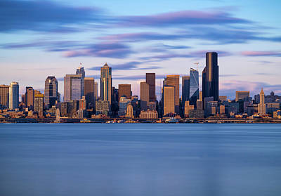 Photograph - Almost Sunset In Seattle  by Ken Stanback
