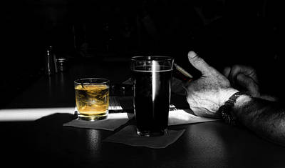 Photograph - Alone At The Bar by David Kay