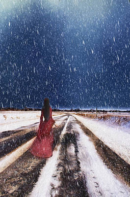 Alone In The Cold Art Print