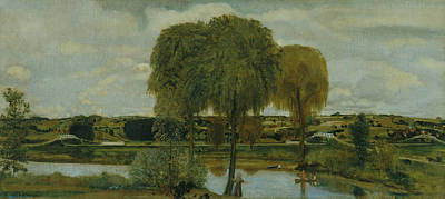 The Eight Painting - Along The Erie Canal by Arthur Bowen Davies