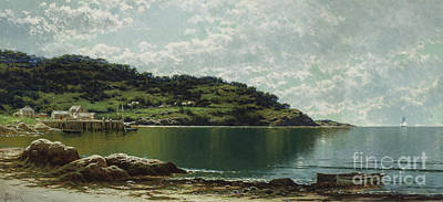 Coastal Maine Painting - Along The Maine Coast by Alfred Thompson Bricher