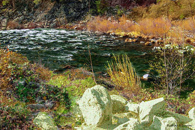 Digital Art - Along The Stream by Richard Baron