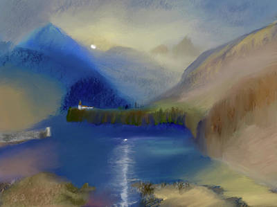 Digital Art - Alpine Vista by Dick Bourgault