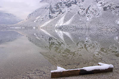 Art Print featuring the photograph Alpine Winter Reflections by Ian Middleton